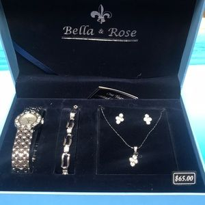 Jewelry set with watch